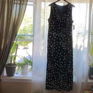 RN Studio Polkadot Long Dress